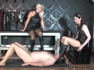 Foot Fetish – FemmeFataleFilms – Sweat Licker – Mistress Heather and Lady Victoria Valente