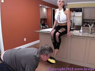 Food Stuffing – Brat Princess 2 – Natalya and Lola – Food and Spit Humiliation (Eat Off the Floor, Fat Pig!)