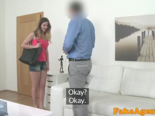 british babe with big tits fucked by newro agent