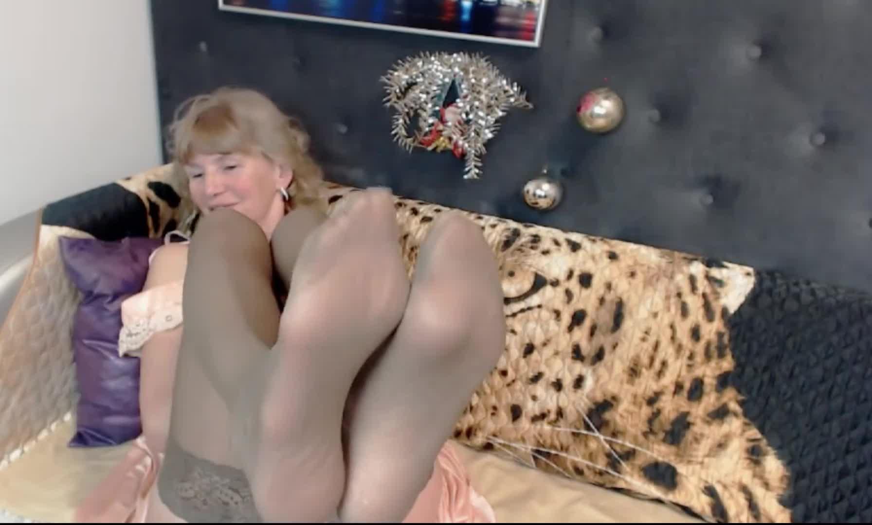 Sexy Blonde Girl Masturbating
