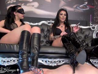 Boots – Mistress Kennya – Introducing My Toilet Boy – Mistress Gaia and Mistress Kennya