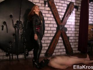 Ella Kross – Smothering Slave with Leather and Leather Worship! – Balls Busting, Facesit | facesitting | big ass femdom chastity strapon
