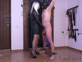 Femme Fatale Films – Mistress Heather – Hung Out To Bust – Complete Film – CBT, Verbal Humiliation