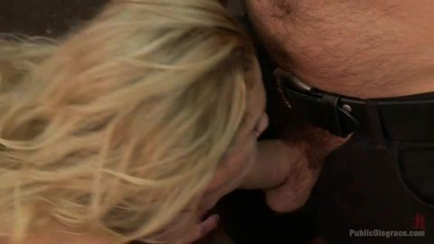 Cherie Deville - Hot Blonde Fucked And Disgraced In A Typewriter Shop (540p)