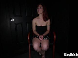 Aleesa's First Glory Hole Video  04/12/2014