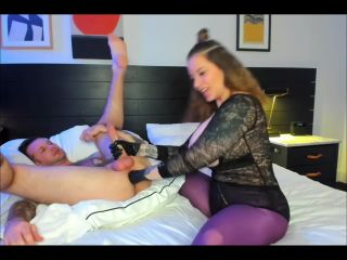 Anal fisting and prostate milking with boobsy Goddess