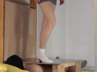 CBTrample – Alina Trampled Nuts under White Socks