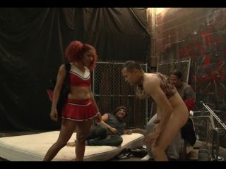 BALLBUSTINGPORNSTARS presents Daisy Ducati in Ebony Cheerleader Homeless Bum Ballbusting