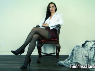 goddess harley  punished at the office  domination