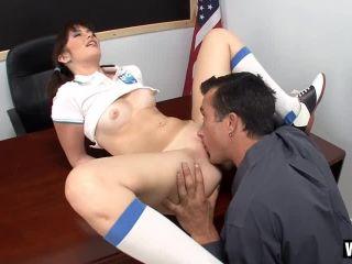 Naughty Schoolgirl Takes Her Teachers Dick