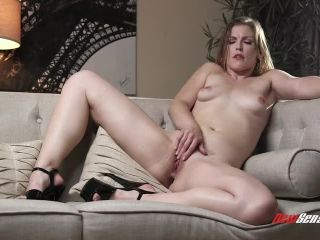 Horny milf Ella makes self anal fisting and giant dildo