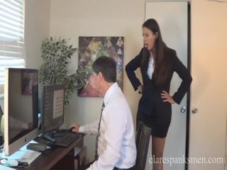 itching fetish Clare Spanks Men – Sarah Gregory Spanks Worker for Looking at Porn. Starring , femdom spanking on femdom porn