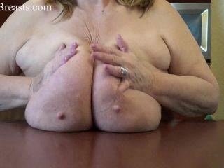 Sarah CloseUp Tit Play