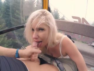 Public BJ and Anal Creampie in Ski Lift and Lot of Fuck in Mountain Hi ...
