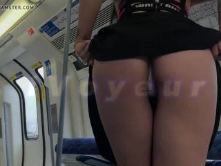Flashing in the train
