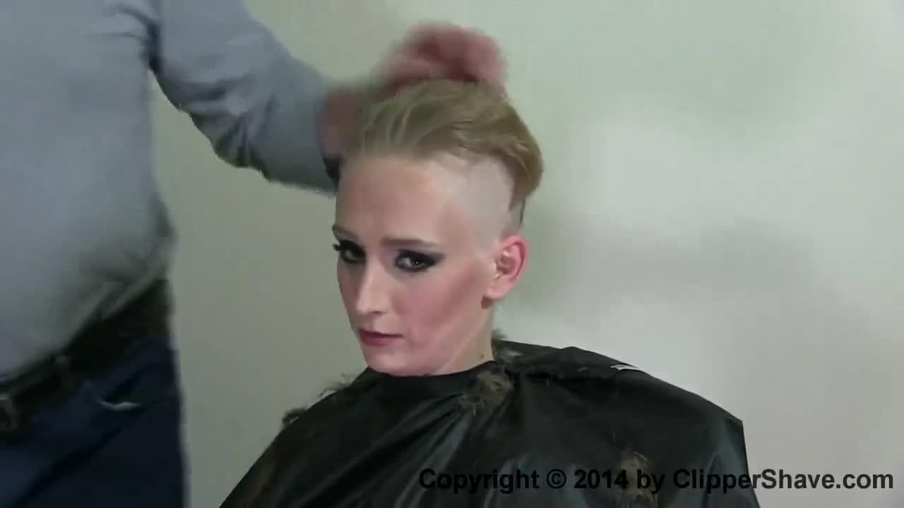 Porn headshave Shaving