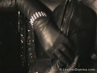 Leather Session Video 429 - Leather Mistress Linda and Leather slave