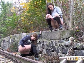 Naughty Girls Piss Near The Railway [UltraHD/4K 2160P] - Screenshot 4