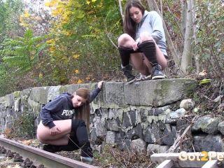 Naughty Girls Piss Near The Railway [UltraHD/4K 2160P] - Screenshot 6