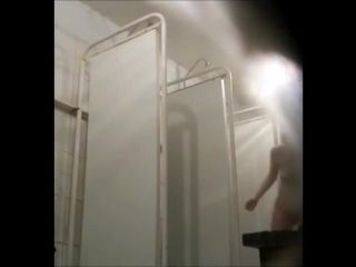 Cute hairy pussy girls in the shower. hidden cam