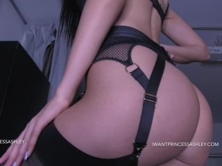 princess ashley - lingerie ass worship