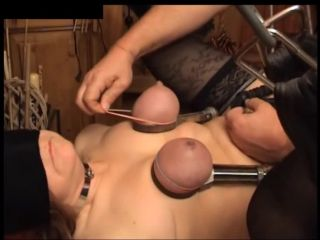 Tit Torture with Needles
