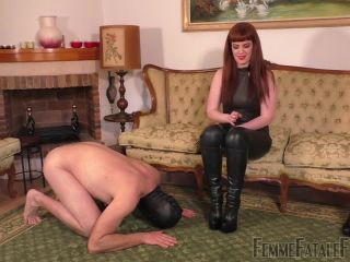 Redhead – Femme Fatale Films – Boot Worship Day – Miss Zoe