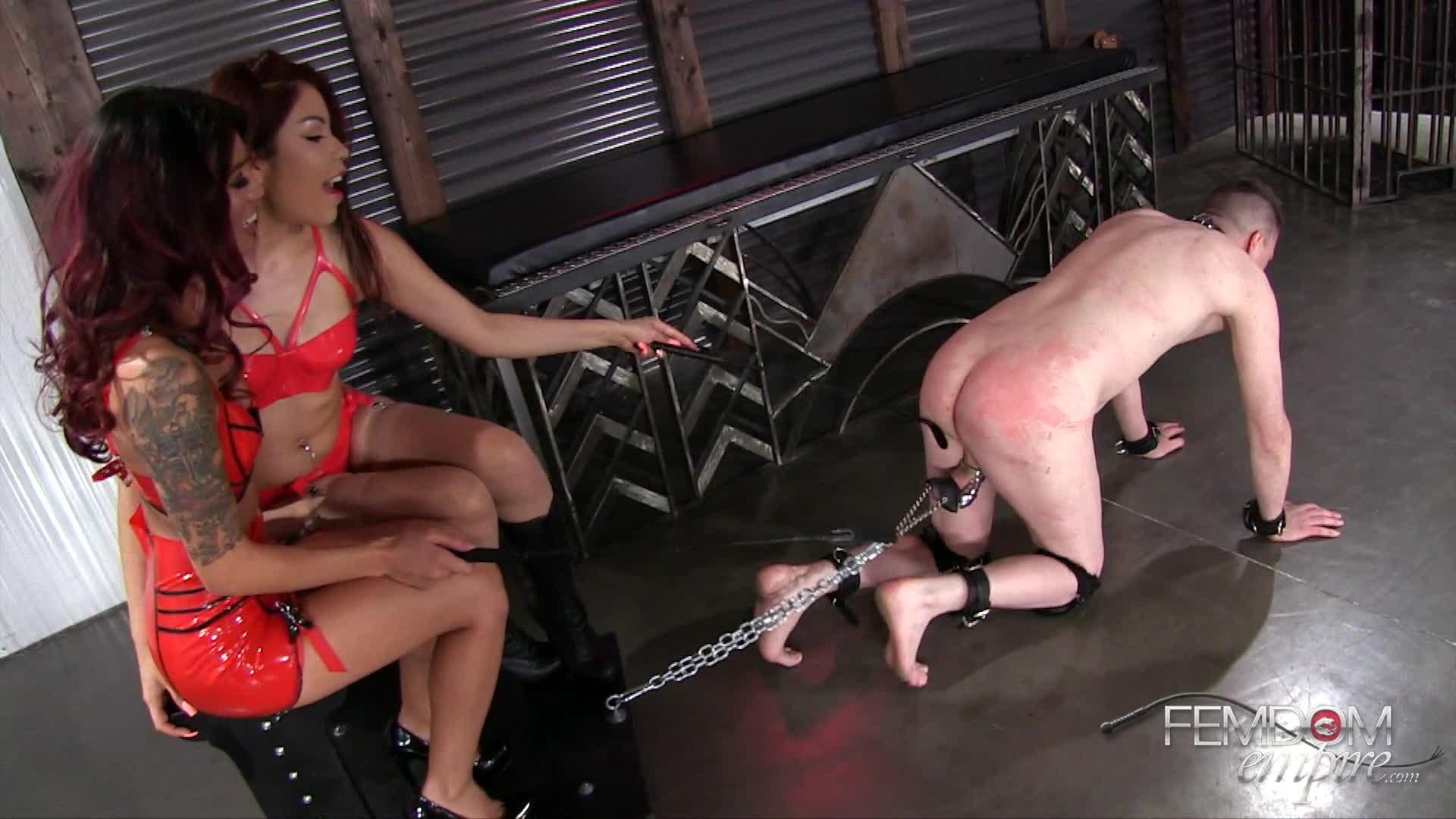 Asiatisch Fräulein Whipping Sklave