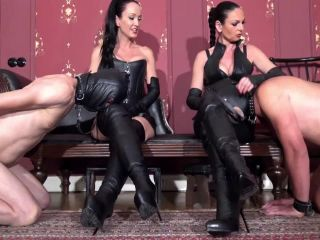 Boot Licking – MADAME CATARINA – CRUELEST BEAUTY – The Boot Slave Train: Four Boots-Two Slaves: ENTIRE MOVIE