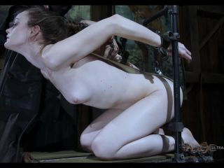 Next Hazel is naked bound to a stand on her knees, an anal hook in her ...