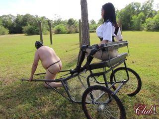 Mistress Crystal Paddles the Pony slave