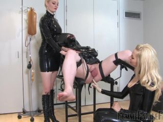 Femme Fatale Films — Gyno Gummi Gimp — Complete Film. Starring Lady Lola and Mistress Eleise de Lacy  anal  bondage  catheter  fisting  medical  rubber  k2s.cc