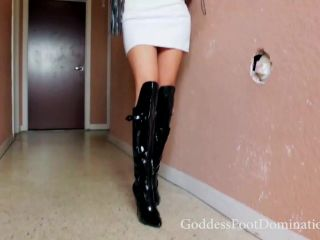 Goddess Foot Domination in Clean My Boots POV