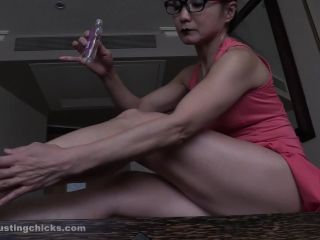 Ball Busting Chicks – Aya – Jerk Off At Her Glossy Oiled Muscles