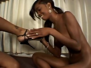Black Feet On Booty Street #5 | diva devine | black porn femdom tied handjob