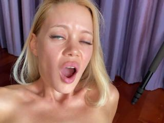 My huge fist dives into her little pussy