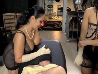 Mistress Ezada Sinn – Milked like a little whore – Locked Dick, Gaia, femdom titjob on femdom porn