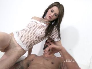 Timea Bella dildo in anal gape and DAP after