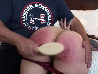 Spanking Virgin Series - Jiggles Hairbrush Blistering