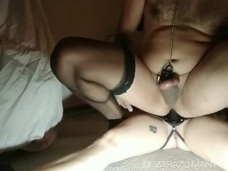 Lizarazuporn - Husband in chastity forced takes my big strapon