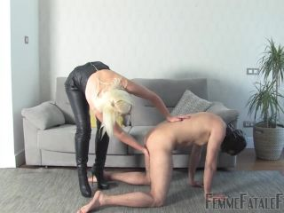 Boot Worship – Femme Fatale Films – First Time Busting – Part 2 – Mistress Heather