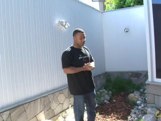 Big booty blonde gets fucked hard by large black cock and face cum blasted