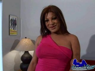 Online shemale video Nancy Plays With Her Dick