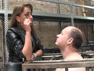 Leather – SADO LADIES Femdom Clips – Clean Your Tongue, Ashtray Starring Lady Pascal