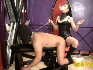 Smoking – Cybill Troy FemDom Anti-Sex League – Ass to Mouth Fuck Whore