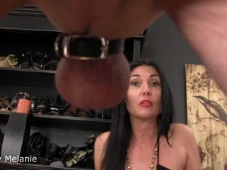 latex fetish sex ObeyMelanie: Balls Full Of Cum, ball squeeze on big ass