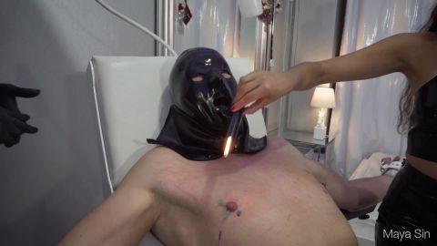 Maya Sin - No Pain, No Gain - 20 Min Of Extreme Nipple Sadism And Cbt (With Mistress Bella Lugosi) [FullHD 1080P]