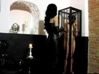 F E M D O M Goddesses - Whips and kicks on the balls of the slave - spanking on fetish porn