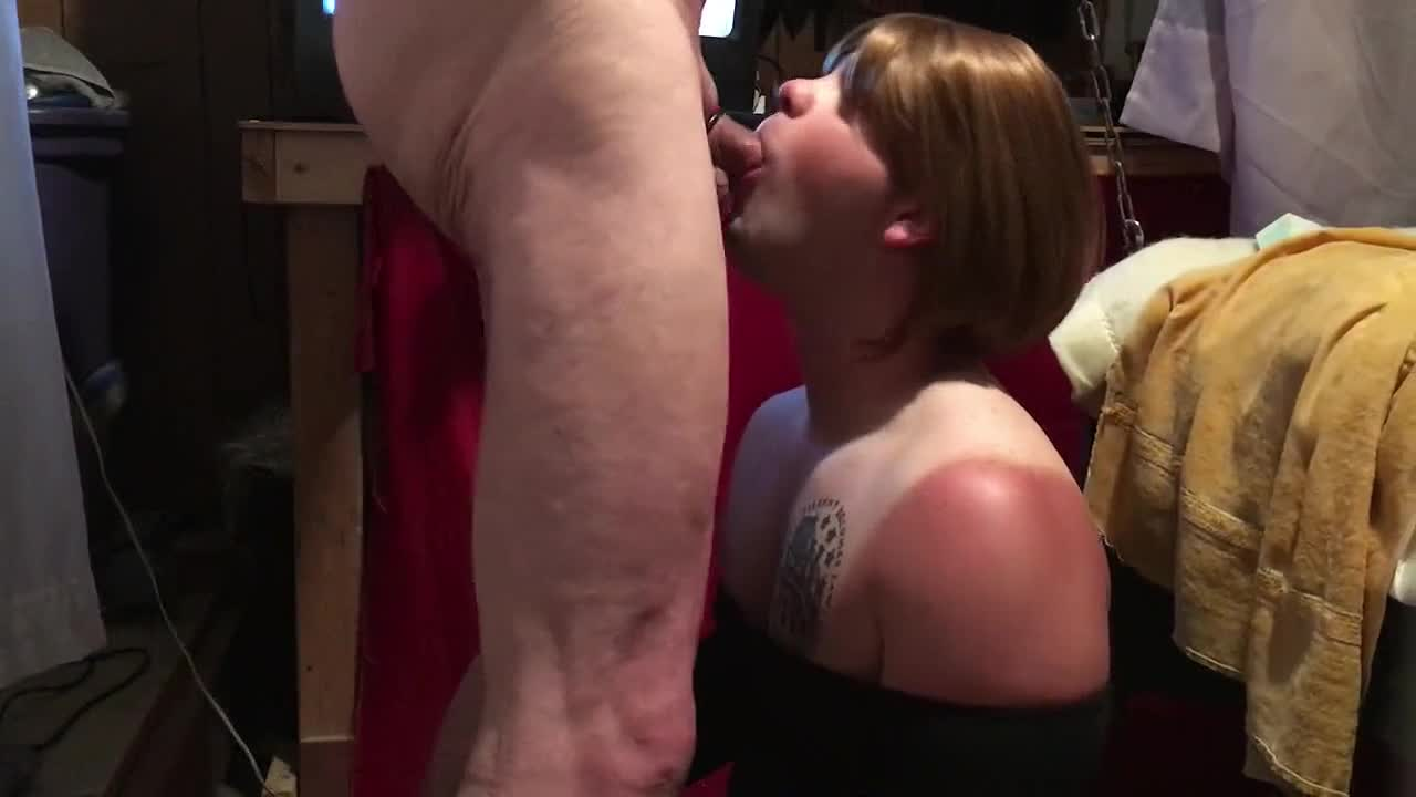 Sucks The Cum Out Black Cock