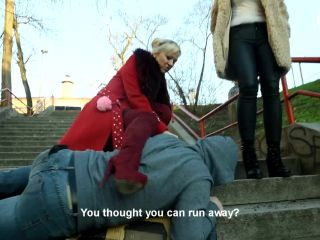 Czech Soles – Two goddesses beating, kicking and humiliating a slave – Part 1